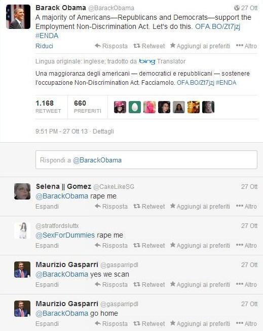 Gasparri risponde ad Obama su Twitter