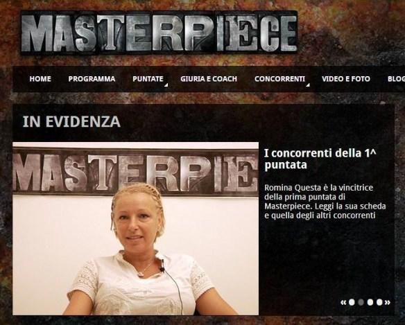 Sul sito di Masterpiece sbagliano il nome del vincitore