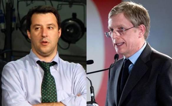 Matte Salvini e Gianni Cuperlo