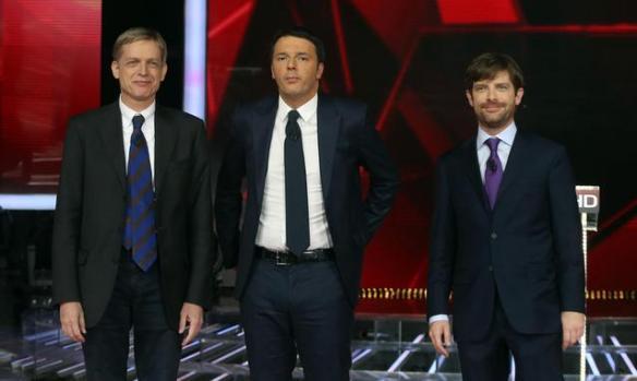 Gianni Cuperlo, Matteo Renzi, Pippo Civati