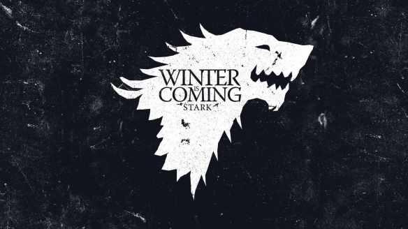 Il metalupo con il motto degli Stark