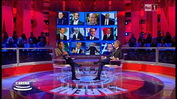 Carlo Conti e Massimo Giletti a L'Arena