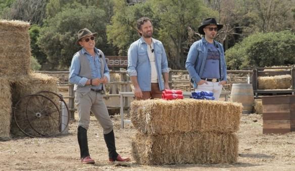 Barbieri Cracco e Bastianich vestiti da cowboys