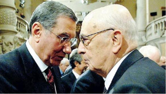 Nicola Mancino e Giorgio Napolitano