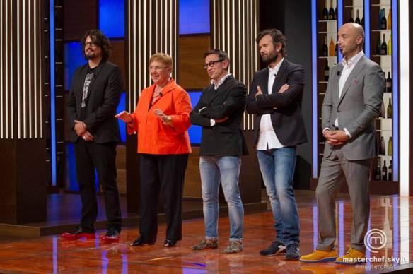 I giudici di Masterchef con Alessandro Borghese e Lidia Bastianich