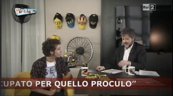 Rocco Tanica con Valentino Rossi
