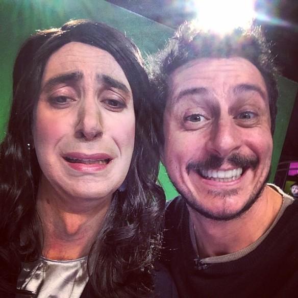 Luca Bizzarri con Paolo Kessisoglu nei panni di Laura Boldrini