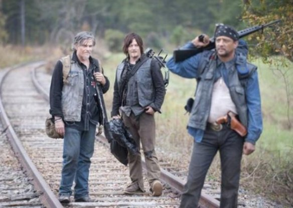 Daryl con i suoi nuovi compagni
