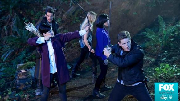 Emma, Biancaneve, il Principe, Regina e Capitan Uncino