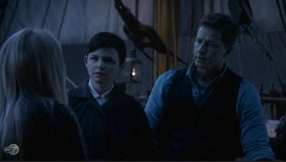 Emma, Biancaneve/Mary Margaret e il Principe Azzurro/David