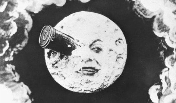 """La più celebre immagine del più famoso film di Melies """"Viaggio nella Luna"""""""