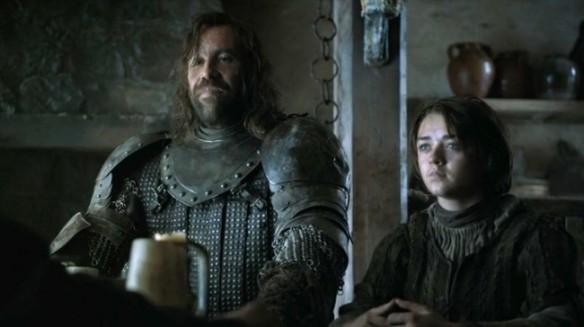 Arya Stark e il Mastino