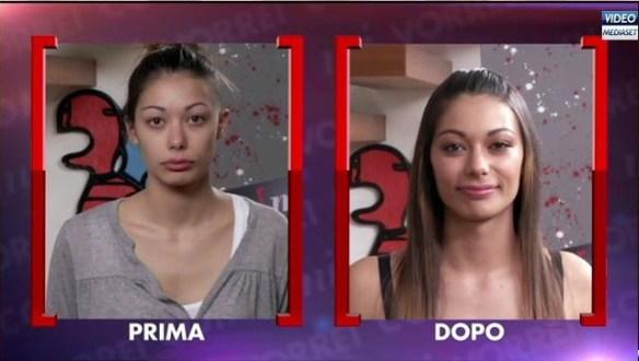 Denise prima e dopo