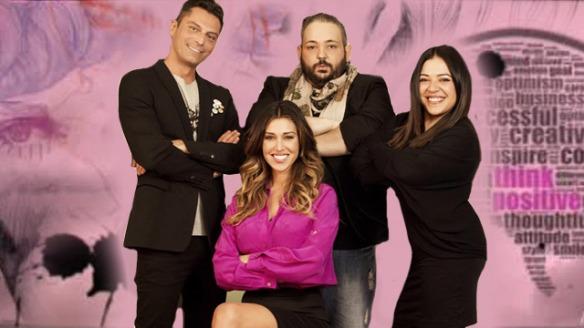 Belen Rodriguez e il suo staff