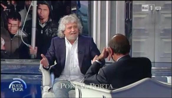 Beppe Grillo e Bruno Vespa