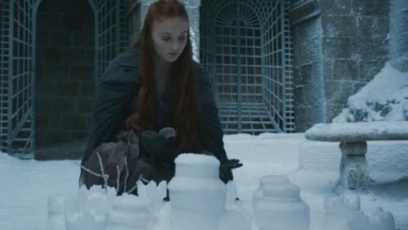 Sansa fa i castelli di neve