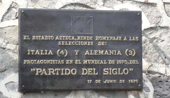 """La targa commemorativa della """"Partita del Secolo"""""""
