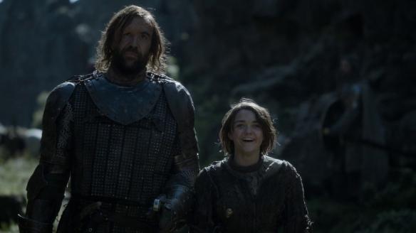 Le diverse reazioni del Mastino e di Arya