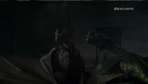 I draghi si accorgono che Daenerys va via