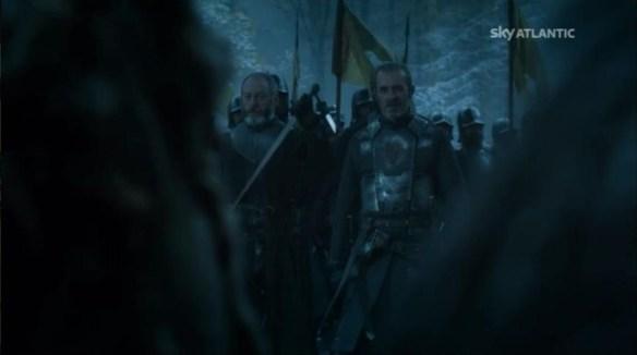 L'arrivo di Stannis Baratheon e Sir Davos