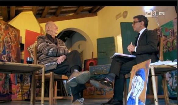 Pino Strabioli e Dario Fo