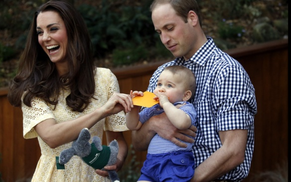 William e Kate con George