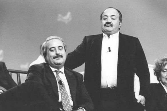 Maurizio Costanzo con Giovanni Falcone