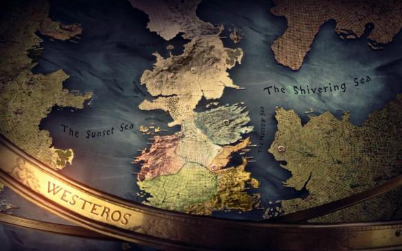 La mappa di Westeros e di Essos