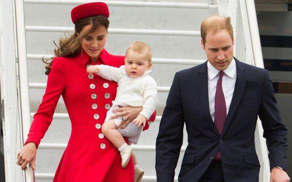 William, Kate e George in Nuova Zelanda