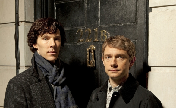 Benedict Cumberbatch e Martin Freeman sono Sherlock e Watson
