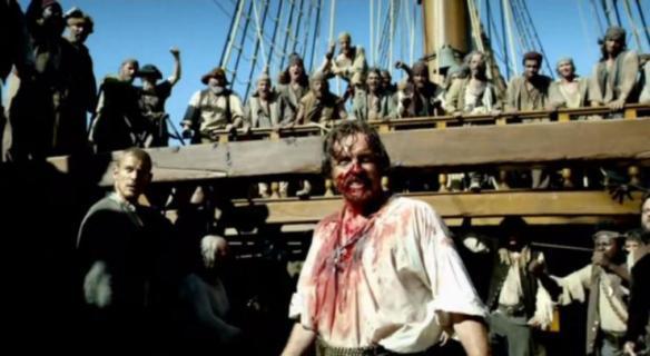 Il Capitano Flint dopo lo scontro con S
