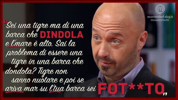 Bastianich guarda come dindolo!