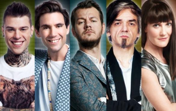 I giudici di X Factor con Cattelan al centro