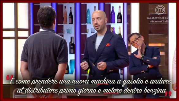 Bastianich apprezza il piatto di Paolo