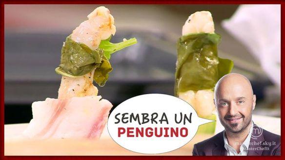 Il piatto di Nicolò non sembra esattamente un pinguino. Vogliamo parlarne?