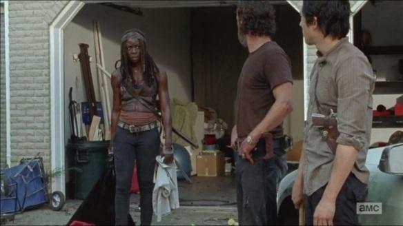 Michonne, Rick e Glenn