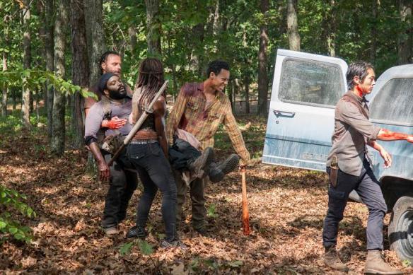 Il gruppo trasporta Tyreese