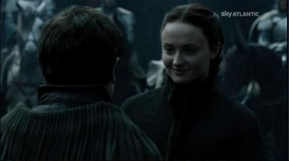 Sansa sorride al suo prossimo aguzzino